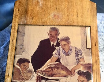 Vintage Norman Rockwell Thanksgiving Cutting Board
