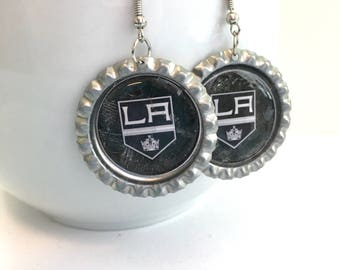 Los Angeles KINGS Handcrafted Hockey Earrings
