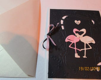 Flamingo Notelet and envelope.