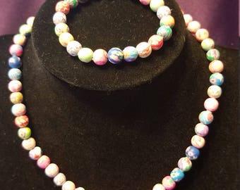 Adorable Child's Clay Necklace & Bracelet