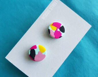 Polymer Clay Studs #8