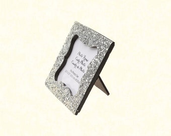 """2.5""""x2.5"""" Silver Place Card Frame"""