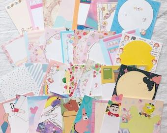 50 Pieces Mixed Lot of Notepads   Kawaii Cute Memo pad