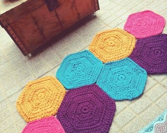 T-shirt yarn rug Model RAIN