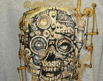 steam punk skull tee shirt