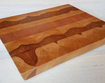 Cutting board brain Wood Board/Brow Brettaus Apple and Alisier... handmade, solid, sustainable