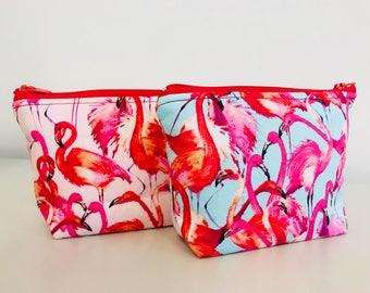 Flamingo Essential Oil Pouch | Pink & Blue Flamingo Pouch