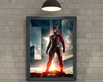 Justice League The Flash movie poster dc superhero Poster