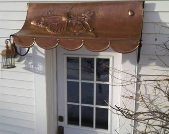 Hand Hammered Decorative Copper Awning