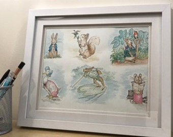 A collection of Beatrix Potter characters - original illustration