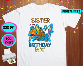 Scooby Doo. Iron On Transfer. Scooby Doo Printable DIY Transfer. Scooby Doo Sister Shirt DIY. Instant Download. Digital Files Only.