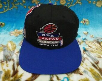 Vtg NBA JAPAN GAMES Tokyo 1996 Big Logo Spell Out Cap Free Size