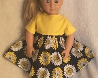 """18"""" doll dress, fits like American Girl"""