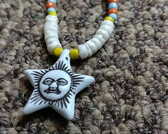 Star beaded necklace