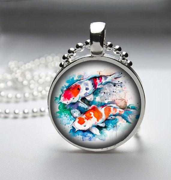 Two koi pendant necklace descripcin aloadofball Images