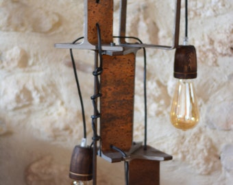 Accent lamp - industrial decorative style