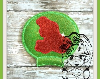 MERMAID Silhouette Ear (Add On~1 Pc) Mr Ms Mouse Ears Headband ~ In the Hoop ~ Downloadable DiGiTaL Machine Embroidery Design by Carrie