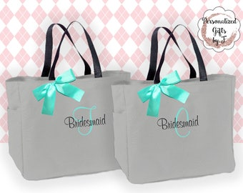 Personalized Bridesmaid Gift Tote Bag