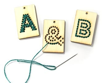 Stitch Art Letter Kit, Set of 3, String art