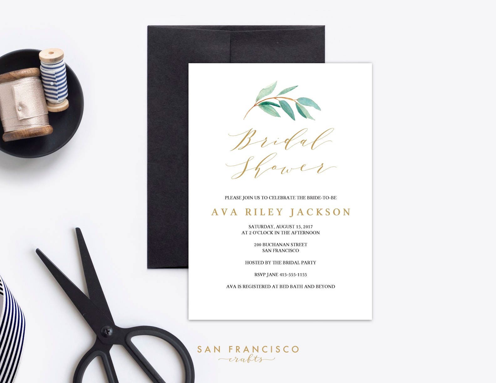 Bridal Shower Invitation Instant Download Editable Invite Template