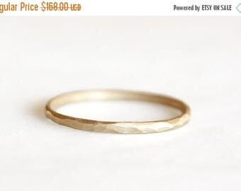 ON SALE 14k gold carved ring, eco friendly, wedding ring, rustic ring, handmade, recycled wedding ring