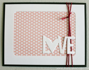 love with polka dots greeting card