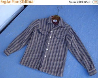 ON SALE Vintage 1950s Boys Shirt Chippewa Button Down Oxford Childs Sz M