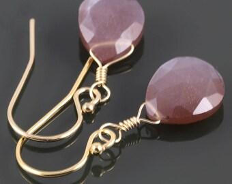 Chocolate Moonstone Earrings. Gold Filled Ear Wires. Genuine Gemstone. Briolette Earrings. June Birthstone. f17e018