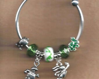 ON SALE Tortoise and the Hare Euro Bracelet