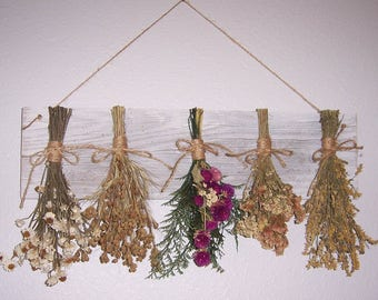 Dried flower rack, LAST ONE, country decor, dried flowers, farmhouse decor