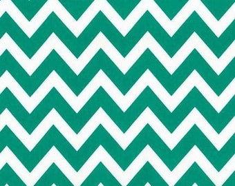 ON SALE - 10% Off Robert Kaufman Remix Zig Zag Emerald Green Chevron Quilting Apparel Fabric BTY