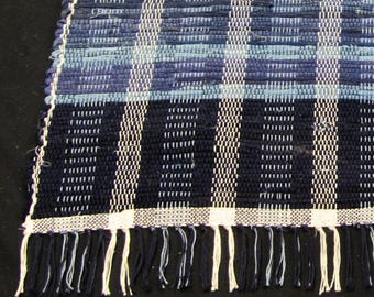 """Rag Rug """"The Blue and the Gray"""""""