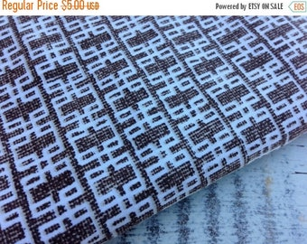 MEMORIAL DAY SALE- Modern Brown Fabric-Reclaimed Bed Linens-Mod Retro