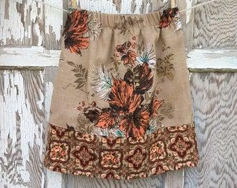 Flea Market Skirt- Eco Friendly Reclaimed Fabrics-Womens-Xs- Boho Style