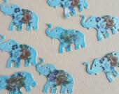 Vintage enamel elephant charms