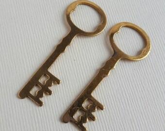 Vintage brass key stamping