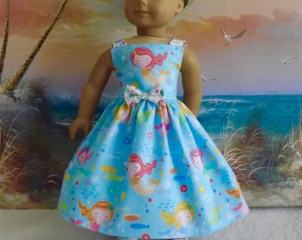 18 Inch Doll Clothes  Mermaids and Bubbles Medley Sundress Will Fit American Girl