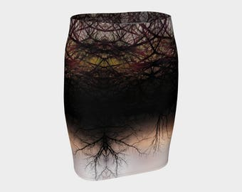 Entwined fitted skirt