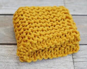 Mustard- Mini Prop Blanket - yellow knit newborn photography prop basket bucket bowl filler stuffer