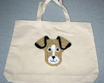 Beagle Canvas Tote  - Dog Tote Bag- Pet Lovers Bag - Custom Tote Bag - Dog Lover Gift - Dog Moms Gift -