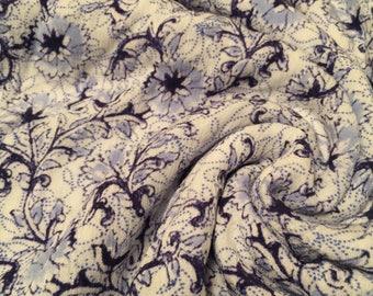 Rayon Crinkle Print Fabric 2 Yards