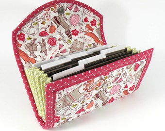COUPON / EXPENSE / RECEIPT Organizer - Walk in the Woods - Coupon Organizer Coupon Holder Cash Budget Woodland Animals