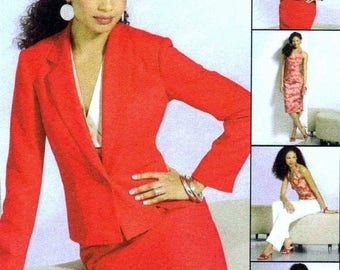 SALE Misses Halter Top Jacket Skirt Pants McCalls 4843 Sewing Pattern Size 6 - 8 - 10 - 12 Bust 30 1/2 - 31 1/2 - 32 1/2 - 34 Uncut