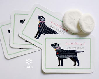Black Lab Bookplates by Taylor Made designs