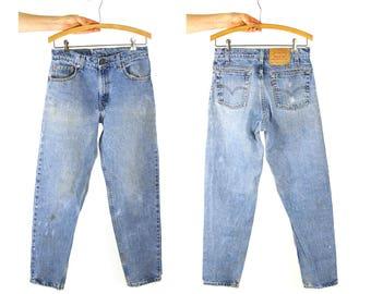 80s Levi's 550 Jeans / Vintage 1980s Levi's Distressed Denim / 29.5 W x 30.25 L