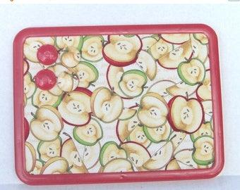 Christmas In July 30% Off Folk Art Sliced Apples Magnetic Board Magnetic Bulletin Board 8x11 Autumn, Fall, Message Board, Adults, Kitchen De