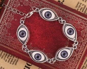 The Eyes Have It Eyeball 7 Inch Bracelet Eye Ball Bracelet Geek Nerd Steampunk