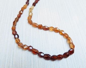 Hessonite Garnet nugget beads