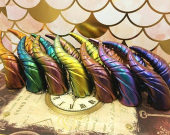 Super Color Shifting Mini Dragon Fairy Costume Horns - Made to Order