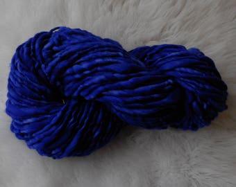 Dark Violet Bulky Single Ply 100 yards 5 oz  Merino